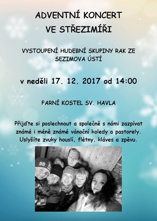 Adventní koncert RAK, 17.12.2017, 14.00h.