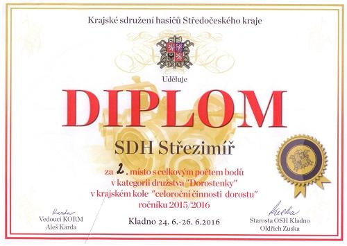 Úspěch na krajské soutěži v Kladně