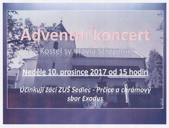 Adventní koncert EXODUS, 10.12.2017, 15.00h.