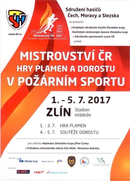 Pozvánka na Mistrovství ČR HRY PLAMEN a dorostu v požárním sportu