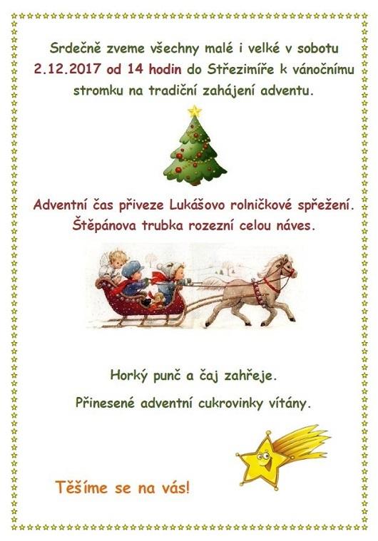 Rozsvícení vánočního stromečku 2.12.2017