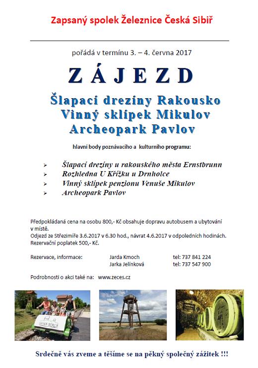 Zájezd ŽeČeS 3.- 4.6.2017