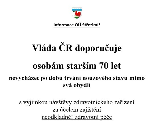 Doporučení vlády ČR seniorům