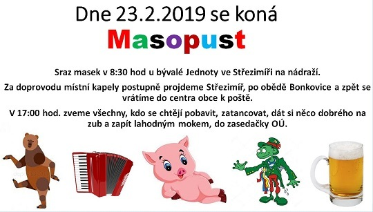 Pozvánka na MASOPUST 2019