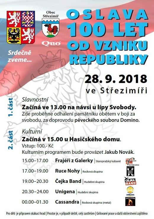 Oslava 100 let Republiky ve Střezimíři
