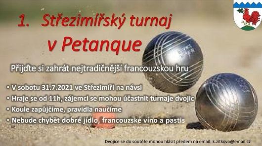 Pozvánka na 1. ročník turnaje Petangue