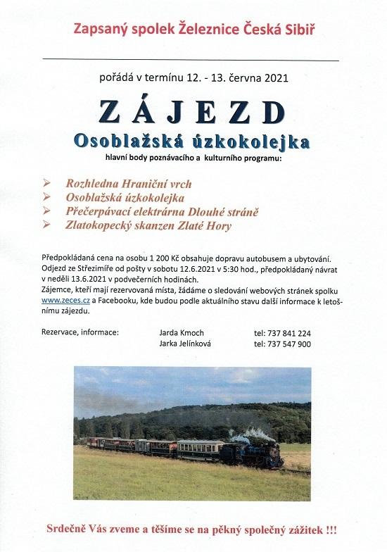 Zájezd spolku Železnice Česká Sibiř 2021
