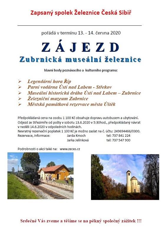 Zájezd spolku Železnice Česká Sibiř